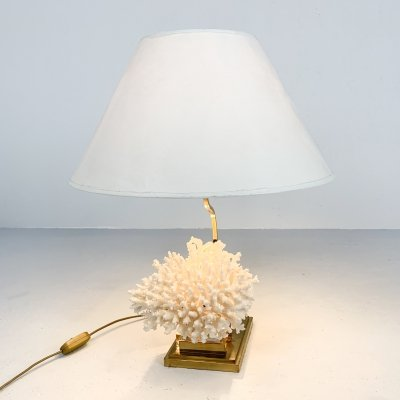 Brass coral table lamp, 1980s