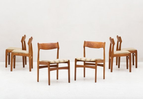 Set of 6 dining chairs, Denmark 1960s