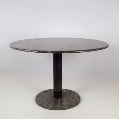 Vintage Round Marble Dinner Table with Rose / Grey Colored Marble