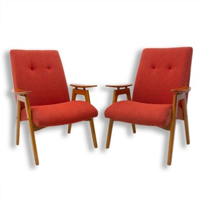 Pair of midcentury armchairs by Jaroslav Šmídek for Jitona, 1960s