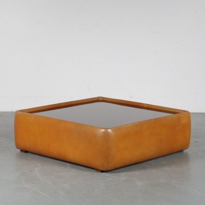 1970s leather coffee table by De Sede Switzerland