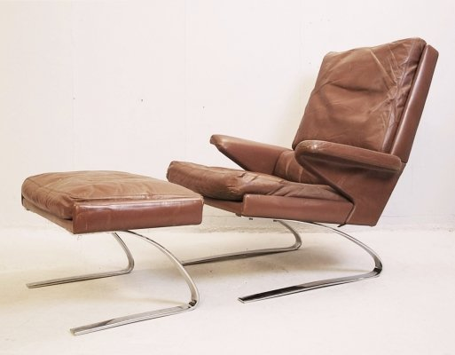 Lounge Chair & Ottoman by Reinhold Adolf & Hans-Jürgen Schröpfer for COR, Germany 1970s