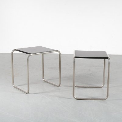 Pair of side tables by Marcel Breuer for Tecta, 1930s
