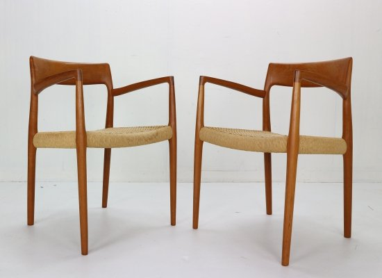 Niels Otto Møller set of 2 'Model 57' Armchairs for J.L. Møllers, 1959