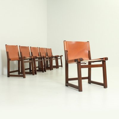 Set of 6 Riaza Chairs by Paco Muñoz for Darro, Spain