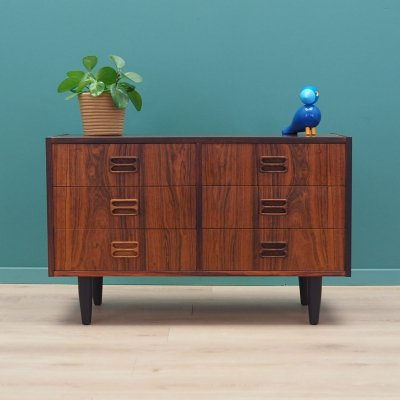 Rosewood chest of drawers by Emil Clausen, Denmark 1970s