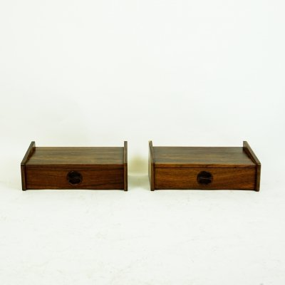 Pair of Danish Floating Rosewood Nightstands