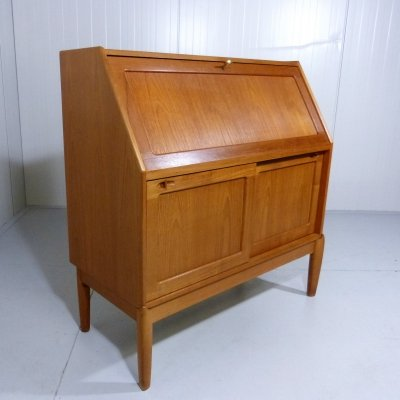 Teak secretary by H.W. Klein for Bramin, Denmark