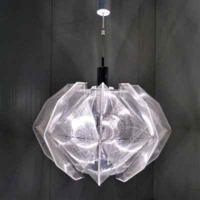 Large hanging lamp by Paul Secon for Sompex, Germany