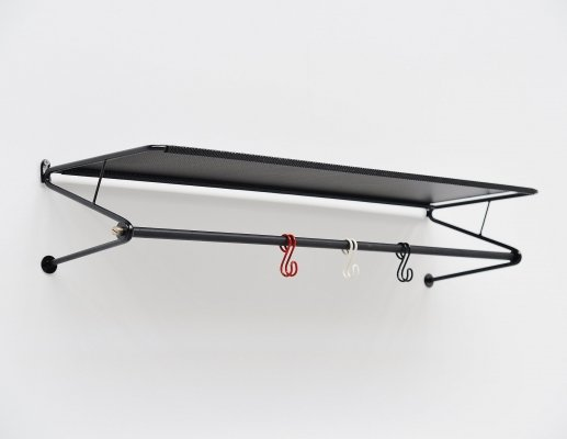 Mathieu Mategot coat rack in black by Artimeta Soest, Holland 1960