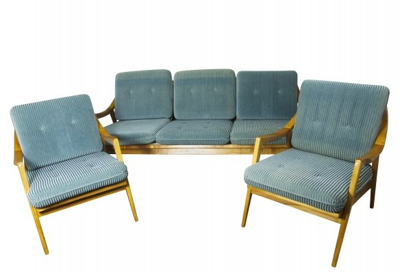 Cherrywood seating group, 1960s