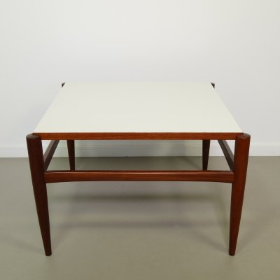 Teak coffee table with reversible top, 1960s