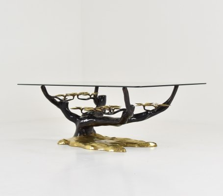 Bonsai tree coffee table by Willy Daro, Belgium 1970's