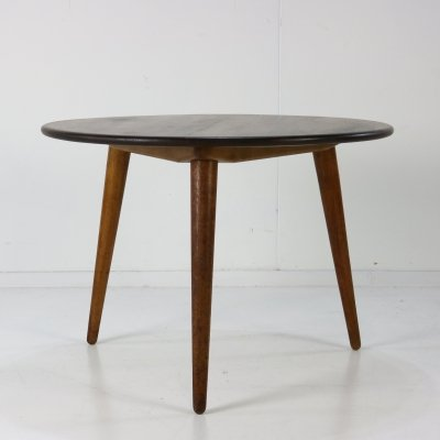 Danish design oakwood coffee side table by Hans Wegner