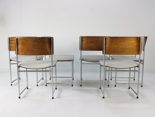 Set of 6 SM80 dining chairs by Cees Braakman for Pastoe, 1960s