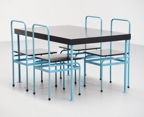 JJP Oud dining set by Kollektor Perpetuel, Holland 1979