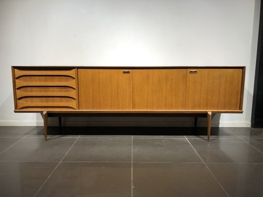 XL Teak 'Astrid' Sideboard by Oswald Vermaercke for V-Form, 1960s