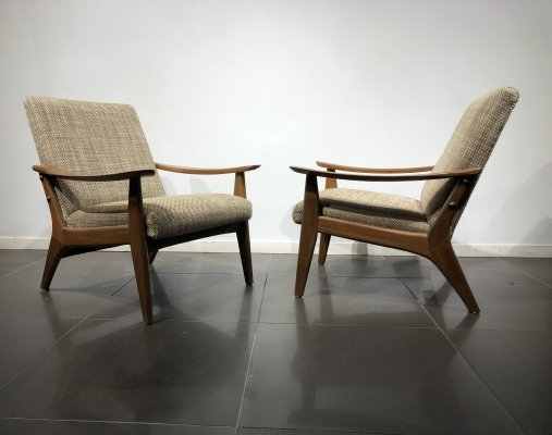 Mid-Century Danish Pair of Easy Chairs, 1960s