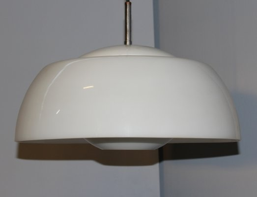 Italian white pendant lamp by Eco Light, Milano 1960s