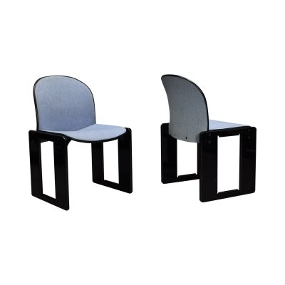 Pair of Dialogo chairs by Afra & Tobia Scarpa for B&B Italia, circa 1980