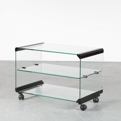 1970s Glass trolley by Galloti & Radice, Italy