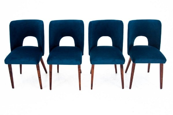 Set of 4 vintage mid-century dining chairs, 1960s