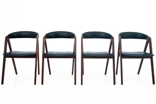 Set of 4 Danish dining chairs, 1960s