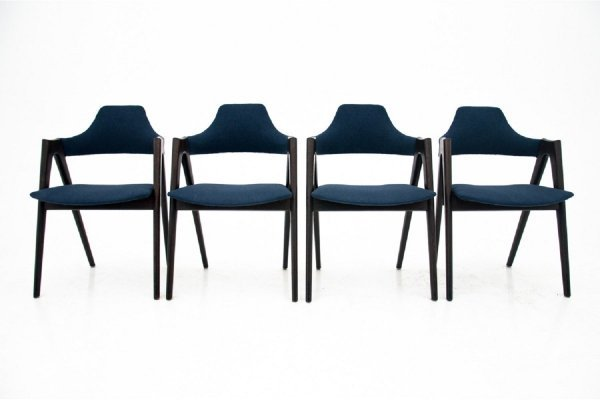 Set of 4 Compass dining room chairs by Kai Kristiansen, Denmark 1960s