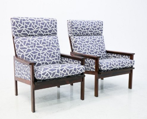 Pair of Rosewood armchairs, Denmark 1960s