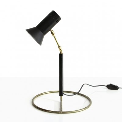 Table lamp with brass base, 1960s