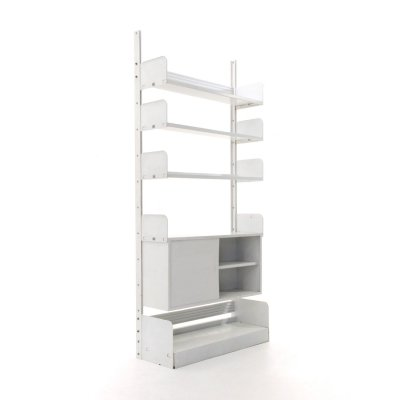 White 'Congresso' bookcase by Lips Vago, 1960s