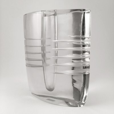 Glass vase designed by Alfredo Barbini, Murano