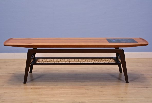 Danish coffee table in teak by Arne Hovmand Olsen for Mogens Kold, 1960s