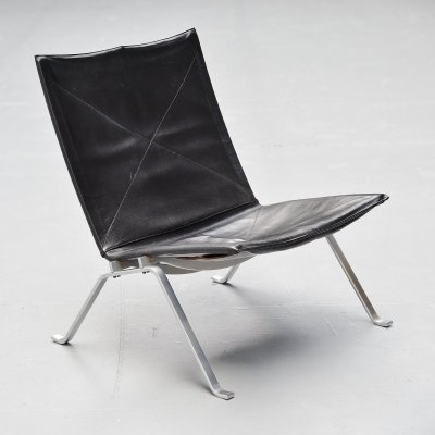 Black Poul Kjaerholm PK22 chair by E Kold Christensen, Denmark 1956