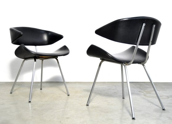 Original tube frame chairs by Gebr. De Wit in Schiedam, 1950s