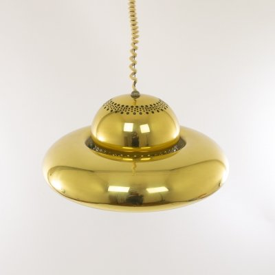 Brass pendant Fior di Loto by Afra & Tobia Scarpa for Flos