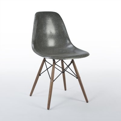 Elephant Grey Herman Miller Original Vintage Eames DSW Dining Chair, 1950s
