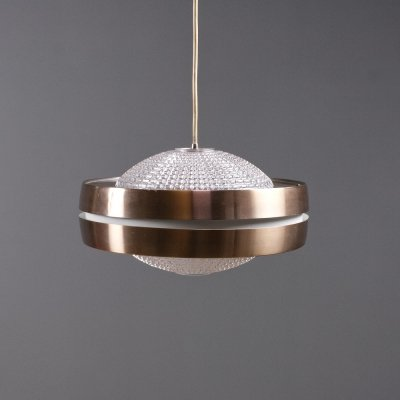 RAAK B-1044 Pendant in anodised aluminium & glass, 1968