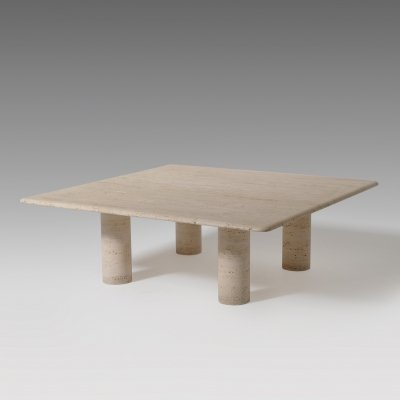 Xl Travertine Coffee Table by Up & Up, Italy 1970's