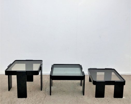 Vintage Cassina nesting tables by Gianfranco Frattini, Italy 1960s