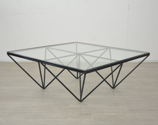Glass & Steel Coffee Table, 1970s