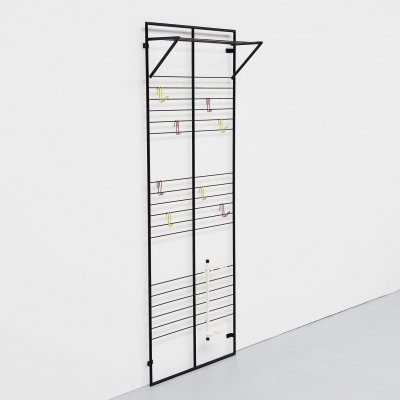 Coen de Vries wall mounted coat rack by Devo Holland, 1954