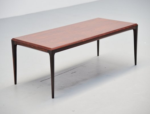 Johannes Andersen rosewood coffee table, Denmark 1960