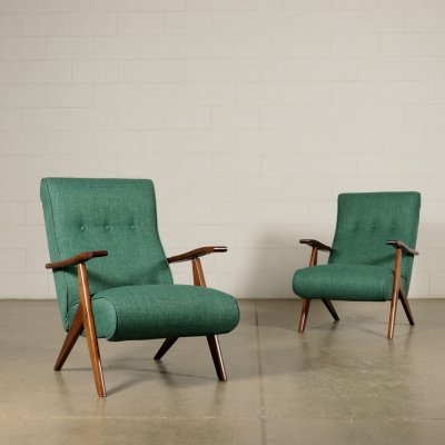Pair of Italian Design Armchairs, 1950s