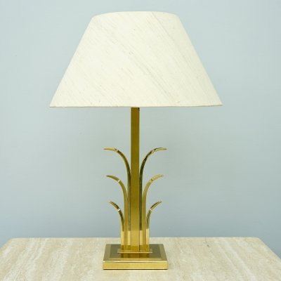 Brass Table Lamp, France 1970s