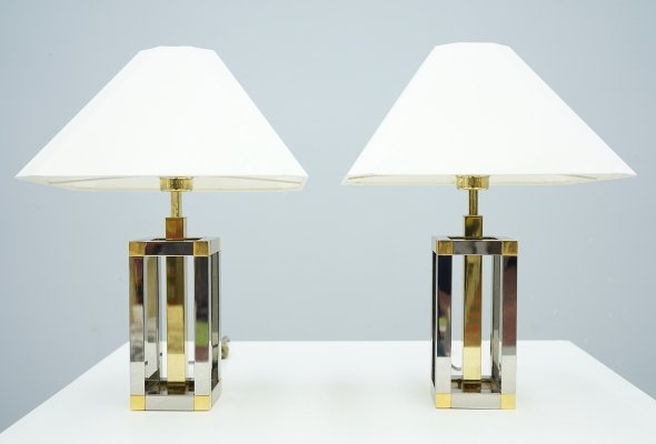 Pair of Maison Jansen Table Lamps, 1970s