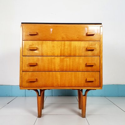 Vintage mid-century bedside cabinet with drawers
