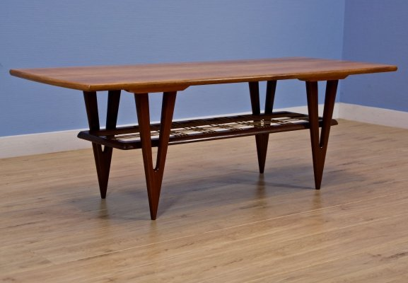 Dutch coffee table by MM furniture in teak, 1960s