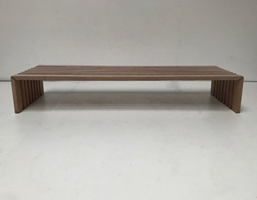 Passe Partout slatted ash bench by Walter Antonis for Arspect, 1970s