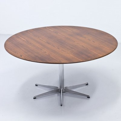 Arne Jacobsen Rosewood Dining Table for Fritz Hansen